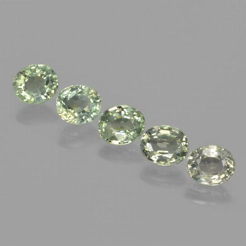 Green Sapphire Gem - 0.9ct Oval Facet (ID: 462656)