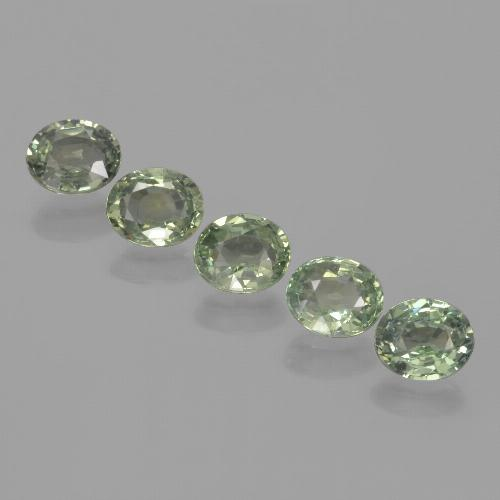 Green Sapphire Gem - 0.9ct Oval Facet (ID: 462658)