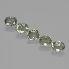 Green Sapphire Gem - 0.8ct Oval Facet (ID: 462659)