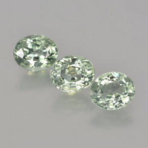Pale Green Sapphire Gem - 0.8ct Oval Facet (ID: 462799)