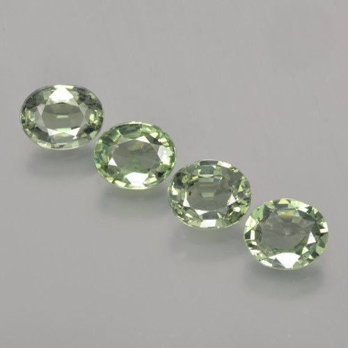 Earthy Green Sapphire Gem - 0.8ct Oval Facet (ID: 462800)