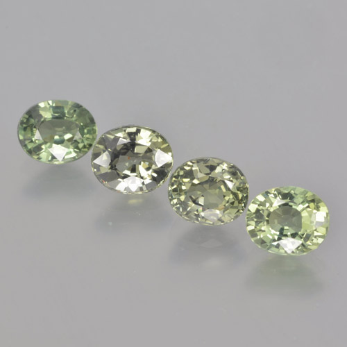 Green Sapphire Gem - 0.9ct Oval Facet (ID: 462801)