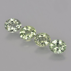 Green Sapphire Gem - 0.7ct Oval Facet (ID: 462802)