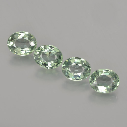 Green Sapphire Gem - 0.8ct Oval Facet (ID: 462804)