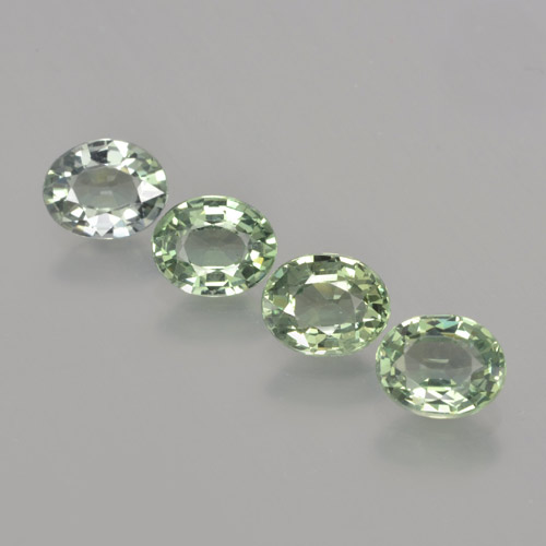 Medium Light Green Sapphire Gem - 0.7ct Oval Facet (ID: 462805)