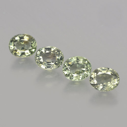 Green Sapphire Gem - 1ct Oval Facet (ID: 462808)