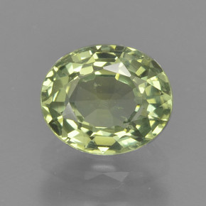 thumb image of 1ct Oval Facet Green Sapphire (ID: 462886)