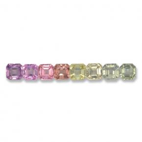 Multicolor Sapphire Gem - 0.2ct Octagon Step Cut (ID: 463075)