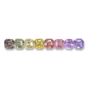 Multicolor Sapphire Gem - 0.2ct Octagon Step Cut (ID: 463078)