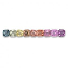 Multicolor Sapphire Gem - 0.2ct Octagon Step Cut (ID: 463096)