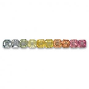 Multicolor Sapphire Gem - 0.2ct Octagon Step Cut (ID: 463098)