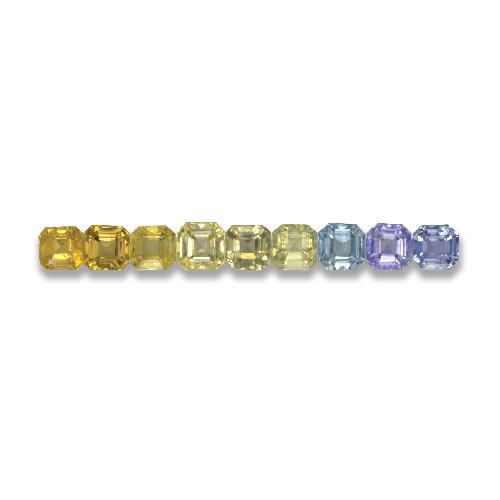 Multicolor Sapphire Gem - 0.2ct Octagon Step Cut (ID: 463101)
