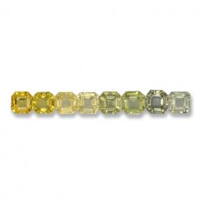 Multicolor Sapphire Gem - 0.2ct Octagon Step Cut (ID: 463108)