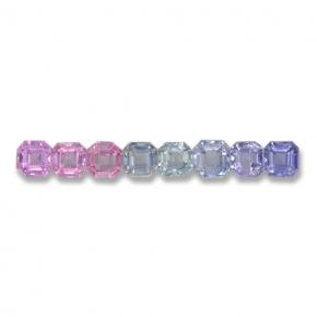 Multicolor Sapphire Gem - 0.2ct Octagon Step Cut (ID: 463112)