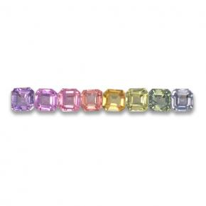 Multicolor Sapphire Gem - 0.2ct Octagon Step Cut (ID: 463123)