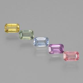 Multicolor Sapphire Gem - 0.4ct Octagon Step Cut (ID: 463570)
