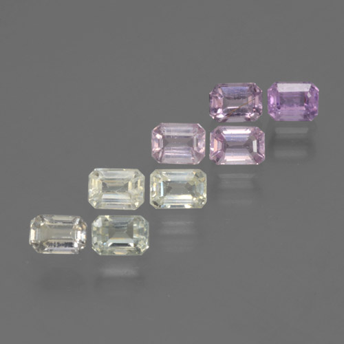 Multicolor Sapphire Gem - 0.3ct Octagon Step Cut (ID: 463583)