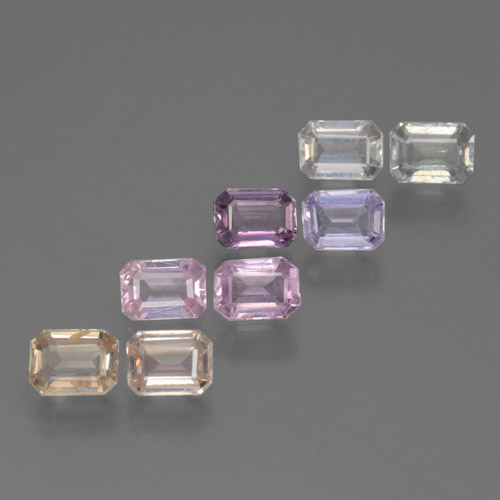 Multicolor Sapphire Gem - 0.3ct Octagon Step Cut (ID: 463587)
