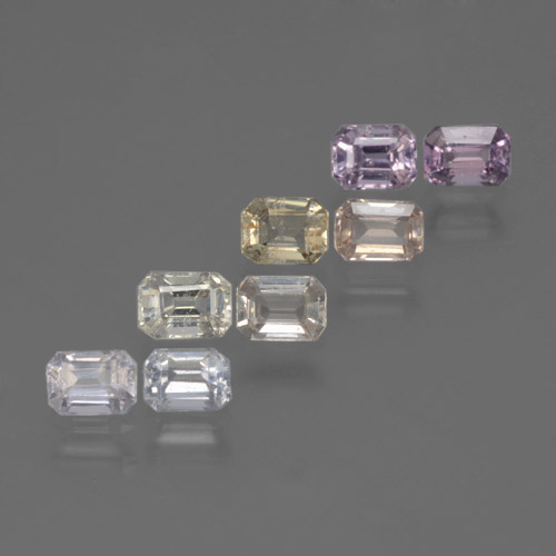 Multicolor Sapphire Gem - 0.3ct Octagon Step Cut (ID: 463592)