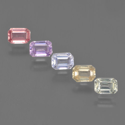 Multicolor Sapphire Gem - 0.3ct Octagon Step Cut (ID: 463594)