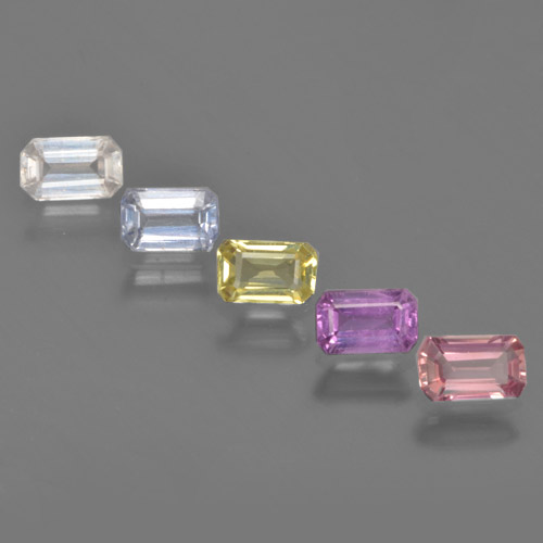 Multicolor Sapphire Gem - 0.4ct Octagon Step Cut (ID: 463604)