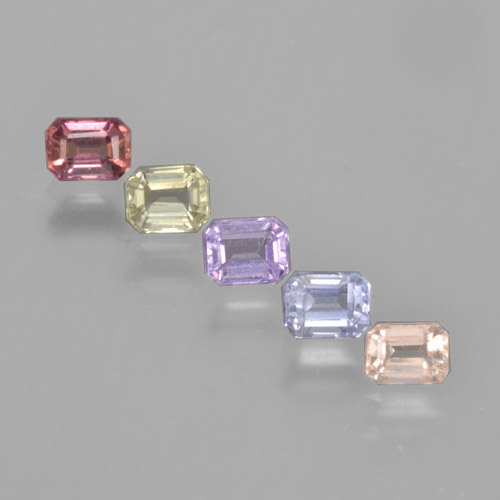 Multicolor Sapphire Gem - 0.3ct Octagon Step Cut (ID: 463618)