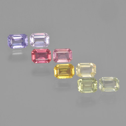 Multicolor Sapphire Gem - 0.3ct Octagon Step Cut (ID: 463660)