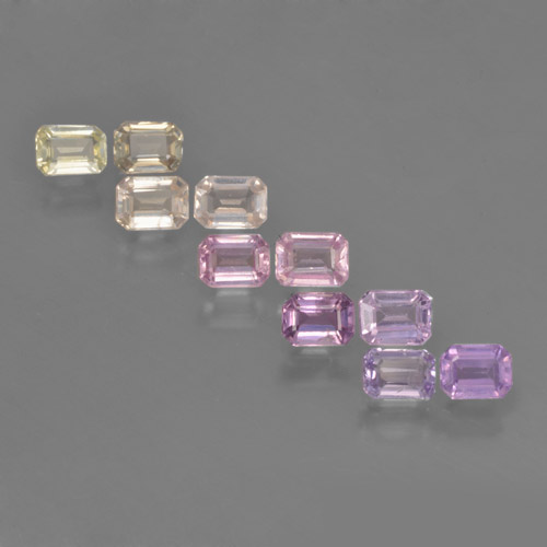 Multicolor Sapphire Gem - 0.3ct Octagon Step Cut (ID: 463679)