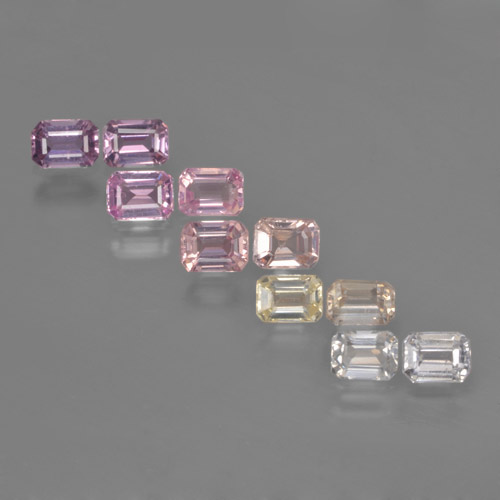 Multicolor Sapphire Gem - 0.3ct Octagon Step Cut (ID: 463682)