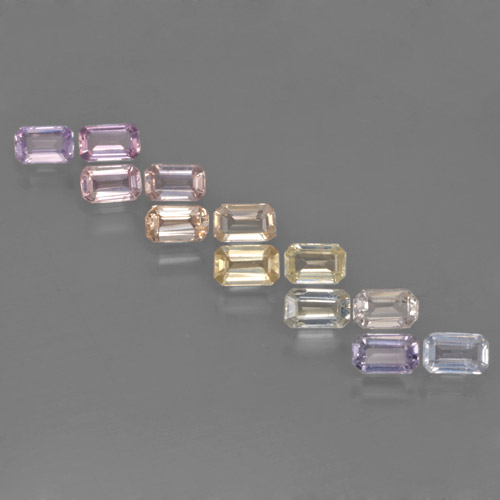 Multicolor Sapphire Gem - 0.3ct Octagon Step Cut (ID: 463686)