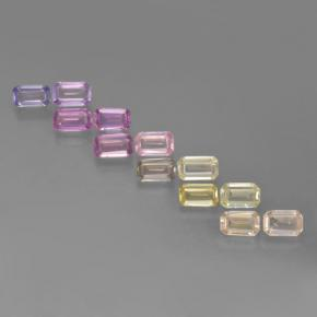 Multicolor Sapphire Gem - 0.3ct Octagon Step Cut (ID: 463688)