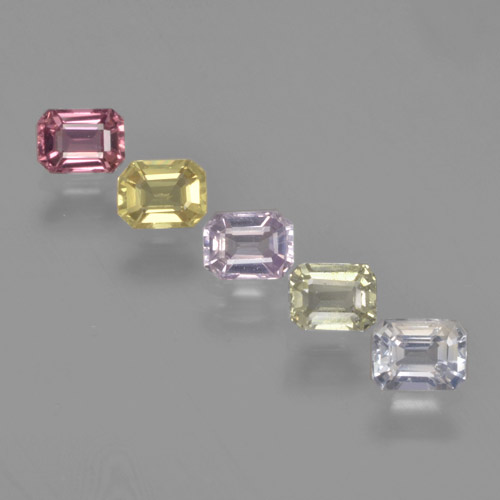 Multicolor Sapphire Gem - 0.3ct Octagon Step Cut (ID: 463692)