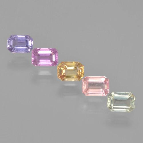 Multicolor Sapphire Gem - 0.3ct Octagon Step Cut (ID: 463706)