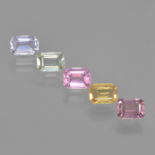 Multicolor Sapphire Gem - 0.3ct Octagon Step Cut (ID: 463707)