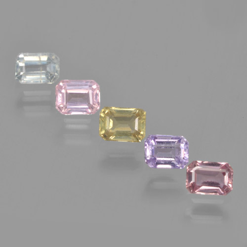 Multicolor Sapphire Gem - 0.3ct Octagon Step Cut (ID: 463711)