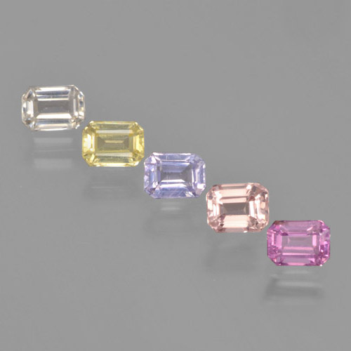 Multicolor Sapphire Gem - 0.3ct Octagon Step Cut (ID: 463713)