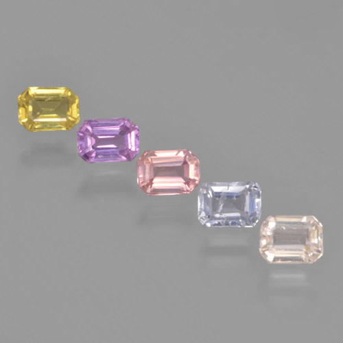 Multicolor Sapphire Gem - 0.3ct Octagon Step Cut (ID: 463718)