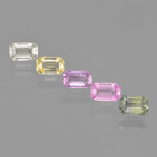 Multicolor Sapphire Gem - 0.4ct Octagon Step Cut (ID: 463720)