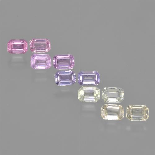 Multicolor Sapphire Gem - 0.3ct Octagon Step Cut (ID: 463739)