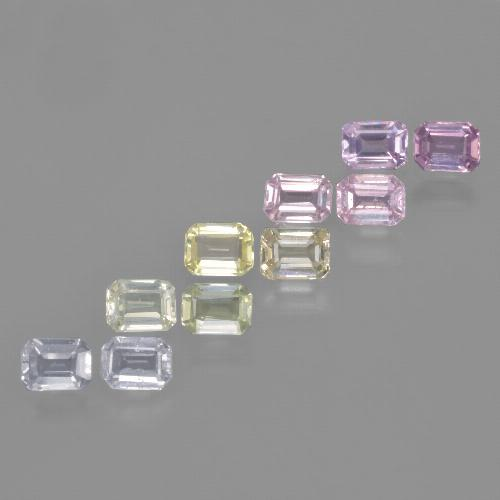 Multicolor Sapphire Gem - 0.3ct Octagon Step Cut (ID: 463740)