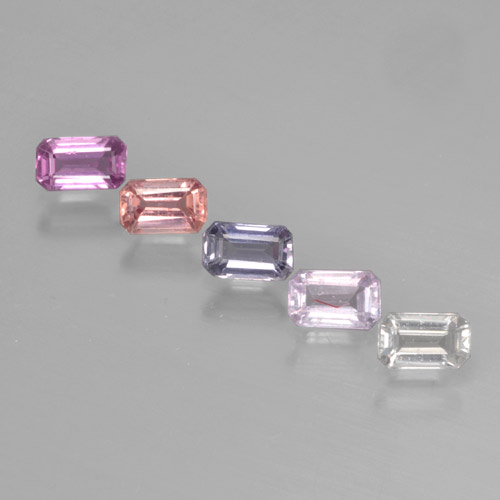 Multicolor Sapphire Gem - 0.3ct Octagon Step Cut (ID: 463755)