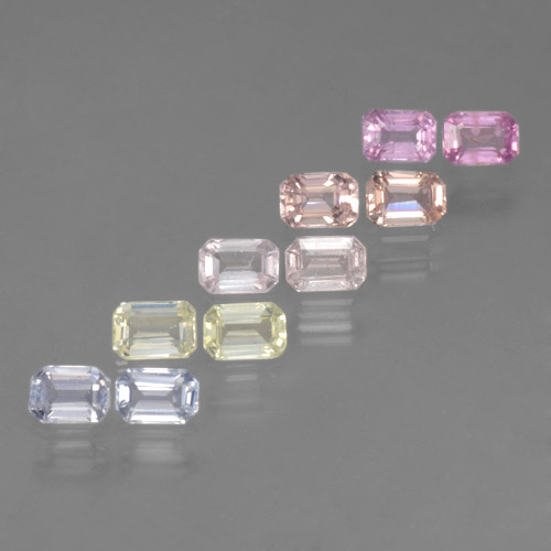 Multicolor Sapphire Gem - 0.3ct Octagon Step Cut (ID: 463771)