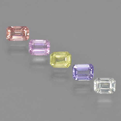 Multicolor Sapphire Gem - 0.3ct Octagon Step Cut (ID: 463773)