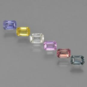 Multicolor Sapphire Gem - 0.3ct Octagon Step Cut (ID: 463776)