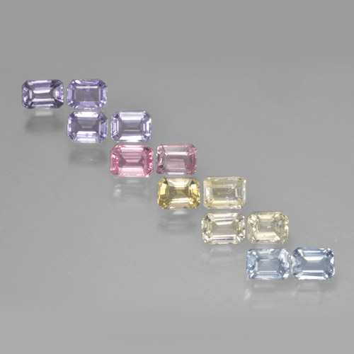 Multicolor Sapphire Gem - 0.3ct Octagon Step Cut (ID: 463788)