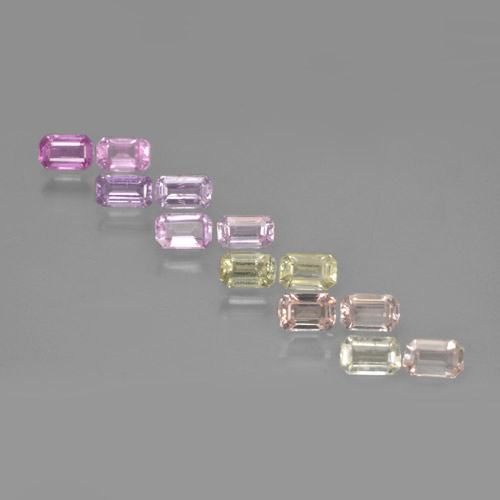 Multicolor Sapphire Gem - 0.4ct Octagon Step Cut (ID: 463795)