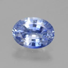 Blue Sapphire Gem - 1ct Oval Facet (ID: 464081)
