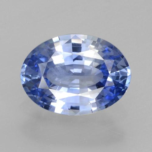 Blue Sapphire Gem - 1ct Oval Facet (ID: 464153)