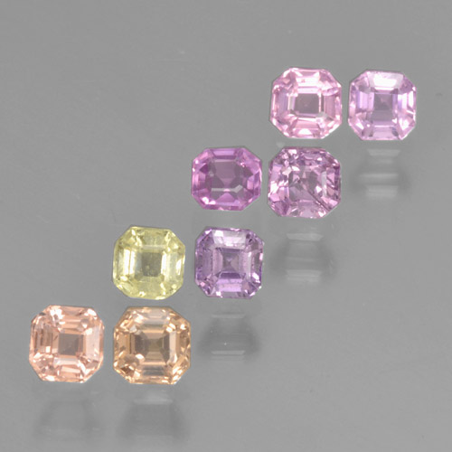 Multicolor Sapphire Gem - 0.2ct Octagon Step Cut (ID: 464181)