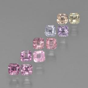 Multicolor Sapphire Gem - 0.2ct Octagon Step Cut (ID: 464205)